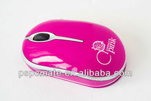 Cheap Pink cartoon 3D Optical Wired Mouse for Computer Laptop