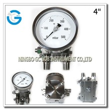 All stainless steel bellows differential pressure gauges