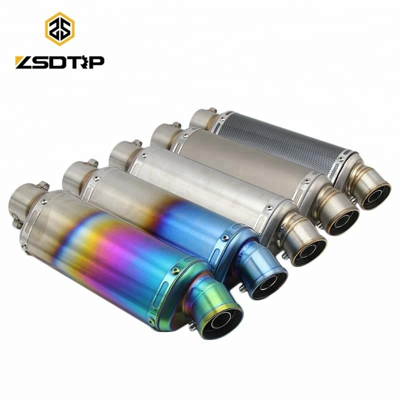 ZSDTRP Universal Carbon Fiber Color Motorcycle Scooter Modified AK <strong>Muffler</strong> Exhaust Pipe case for RACING