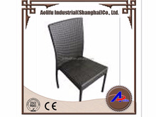 SGS tested Aolifu c1032 alu frame black PE rattan chair