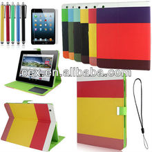 For Apple iPad 2 3 4 New Arrival Colorful Magnetic Hybrid PU Leather Wallet Flip Stand Case