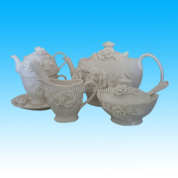 funny hotsale white porcelain tea pot for kitchenware
