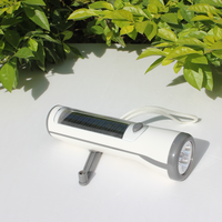 led flashlight solar mobile phone charger/solar power rechargeable led flashlight/emergency mobile phone charger