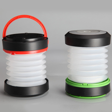 Rainproof Solar Energy Products Collapsible Rechargeable Solar Torch Light Lantern With USB Phone Charger