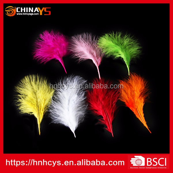 2017 High quality prime quality marabou Turkey craft feathers for sale