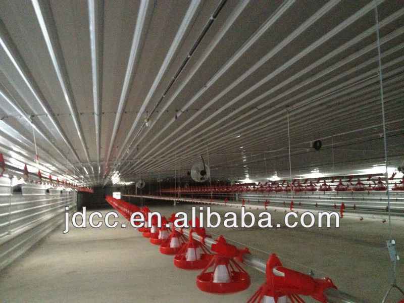 prefabricated steel structure broiler house with broiler chicks rate