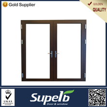 Superb light cheap aluminum double swing door for kitchen