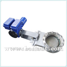 Electric actuator knife gate valve, 2 inch diverter gate valve