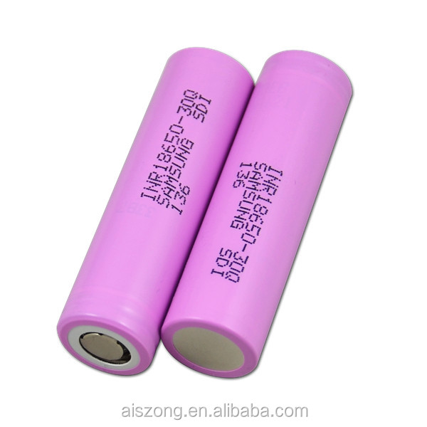 High Power Samsung 18650 30Q 3000mAh flat cell Li-ion 15A INR18650 30Q Samsung 15A 3.7v li-ion rechargeable 18650 Battery Cell