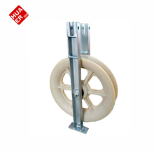 Large diameter pulleys for cable construction