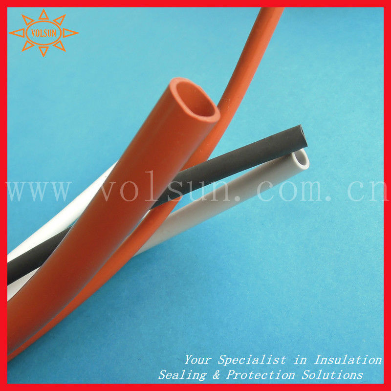 200degree silicone rubber high temperature heat shrink tube