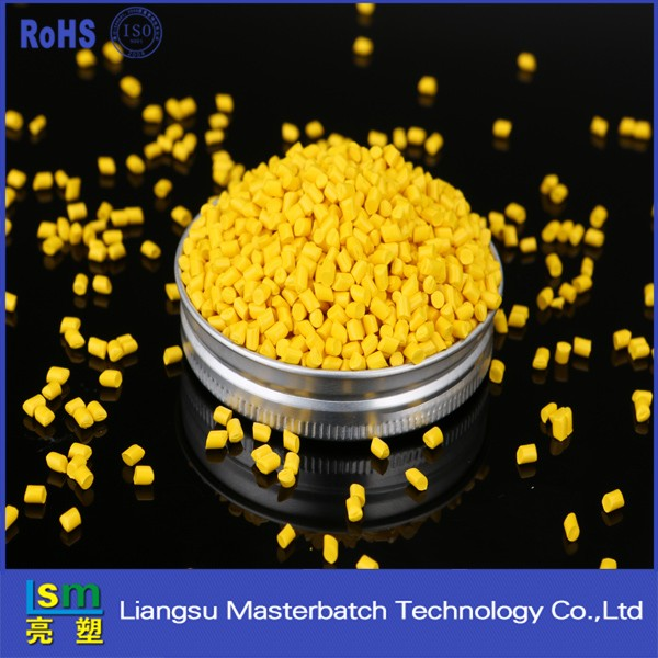 yellow masterbatch plastics pellets yield strength polypropylene