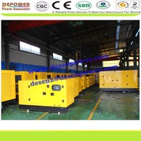China manufacturer sell 20,80,25,125,100,10,200,500KW open,silent type diesel generator supplier