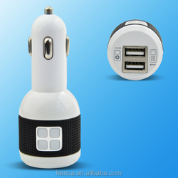 5v 2.1a dual usb car charger for cellphone