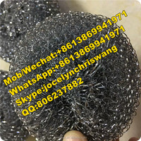 Household cleaning products stainless steel mesh scourer/iron scourer/metallic wire scourer mesh