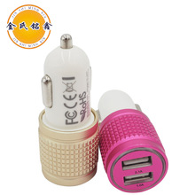Factory 5v 2a micro dual usb mini car charger wholesale