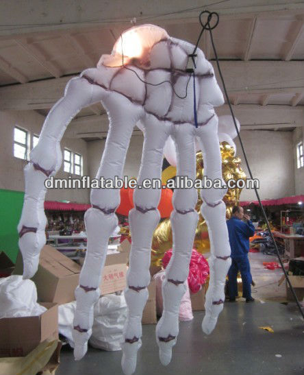 Five fingers inflatable pvc hand for promotion