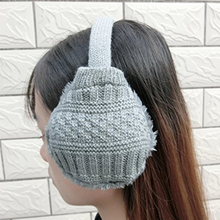 Winter Women's Knitted Plush fake fur Earmuffs