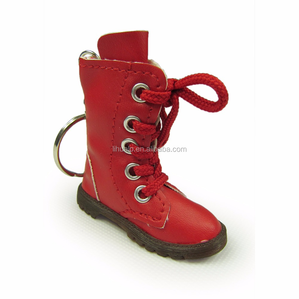 7.0cm boot keychain wholesale promtional items boot keyring