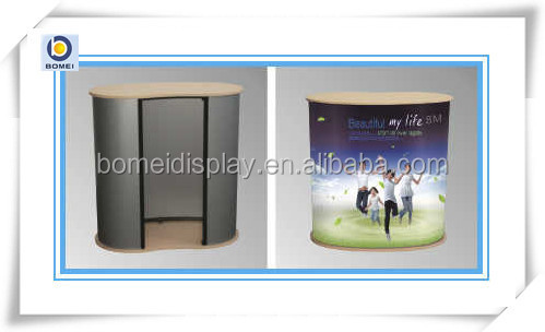New style pop up promotion table with wood board
