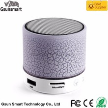 A9 3W Bluetooth V3.0 LED Light Flashing Portable Mini Wireless Bluetooth Speaker Shenzhen for Sauna