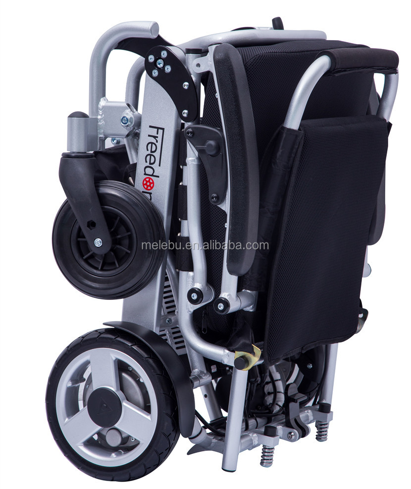 2016 medical fda approved Folding portable small light cheap electric wheelchair prices with ramp picture