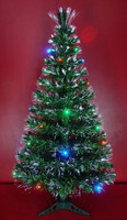 LED Light Source Fiber Optic Christmas Trees with LED Decorations