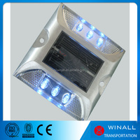 ABS material blinking solar energy flashing plastic and aluminum road stud