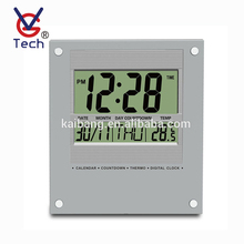Calendar Display Battery Operated Electric LCD Digital Wall Clock