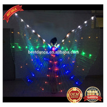 BestDance Butterfly LED rainbow programmable belly dance isis wings for dancing OEM