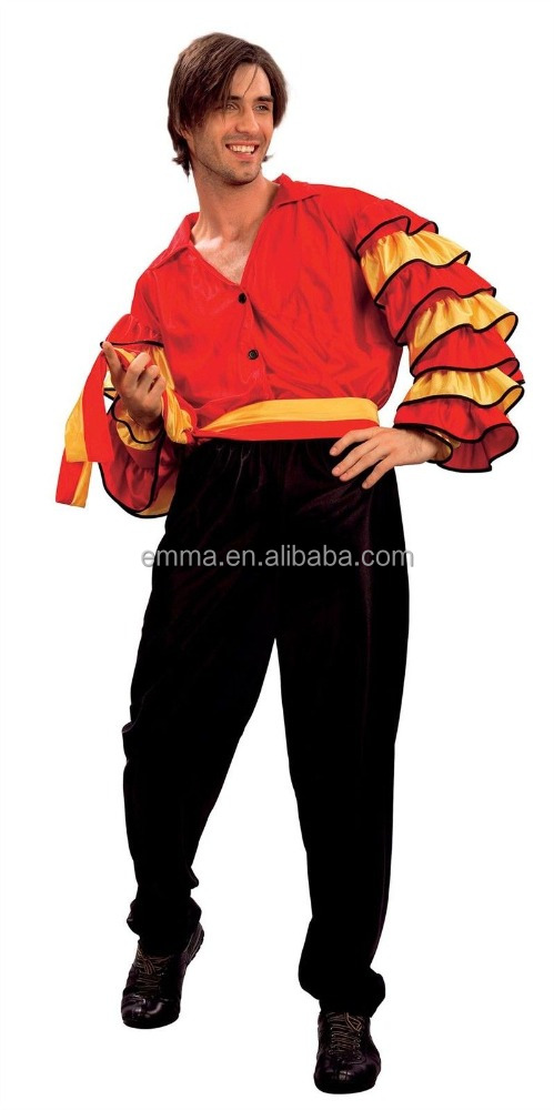 Adult men rumba spanish latin dance carnival fancy dress costume for standard BMG20052