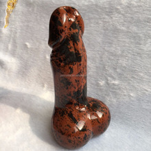 Natural Red Obsidian Healing Dildo Big Sex Toy Penis for Women