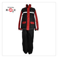 rain suits manufacturer 190T polyester PVC reflective rain suits