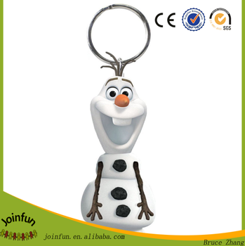 OEM make plastic cartoon character toy keychain, custom 3d cartoon character pvc keychain