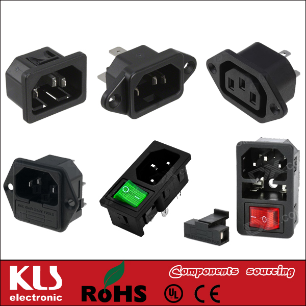 Good quality ul standard electrical <strong>plug</strong> c13 connector UL CE ROHS 029 KLS Brand