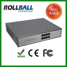 10/100M 4port poe centralized power supply 60w poe injector