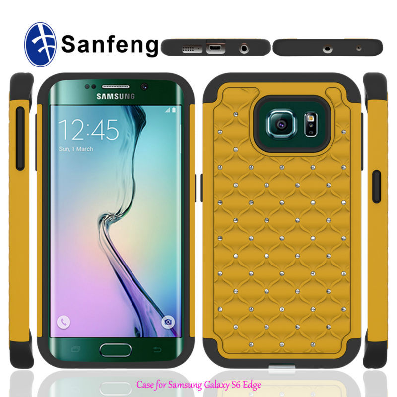 Bling diamond case for samsung galaxy s6 edge China directsellingsamsung galaxy s6 edge