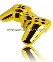 chrome gold for ps3 controller shell with buttons for playstation 3 accessories