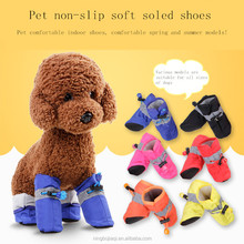 Pet dog shoes Teddy Bobby Billy Bear Soft bottom Waterproof pet shoes Suitable for spring and summer