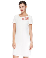 2014 New Sven simple white short-sleeved dress,wedding dress
