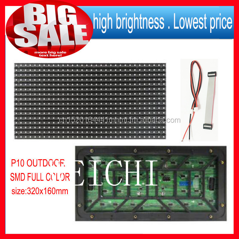 WEICHI 2018P10 32*16 red color 2015 32*16 pixels 1/4 scanning outdoor single red color led display module <strong>P10</strong> single blue <strong>amber</strong>