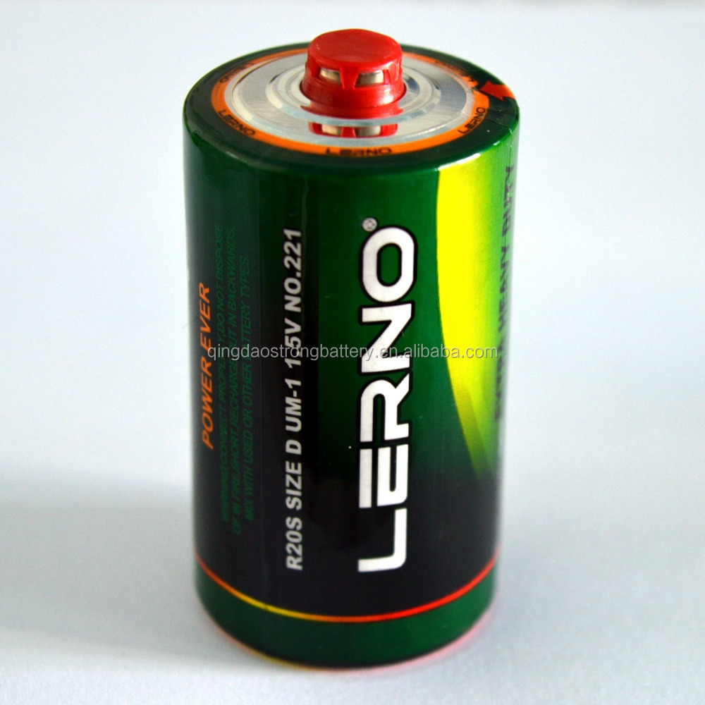 Duration time 320 mins Um-1 R20 size D dry cell battery 1.5V for radio