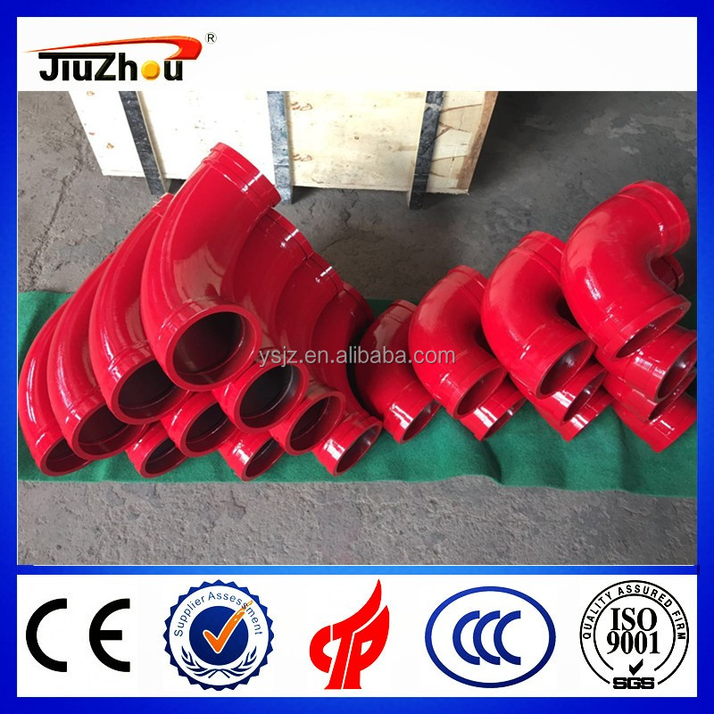 Inner surface hardening concrete pump spare parts--DN125 concrete pump wear-resisting elbow