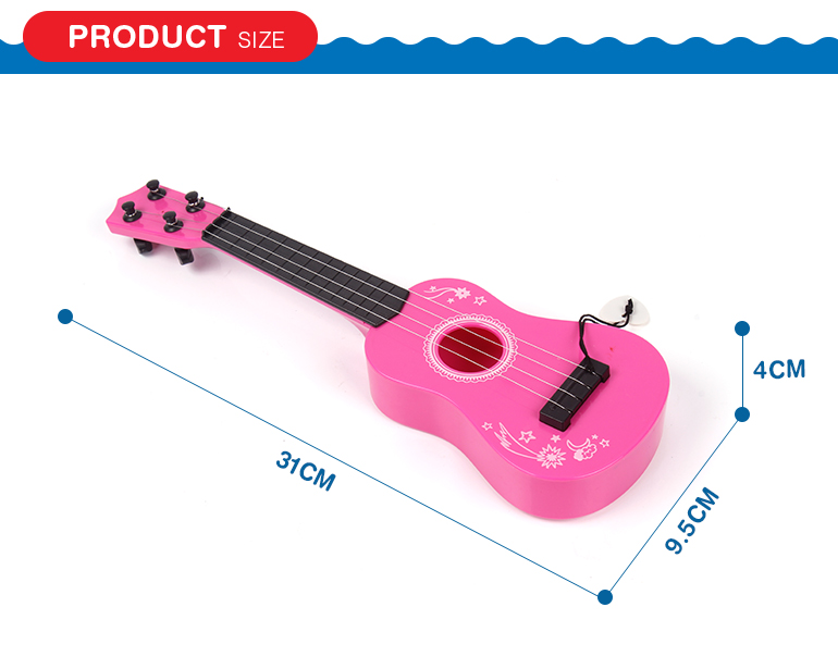 Musical instrument prefect size mini amusing plastic guitar with music wire