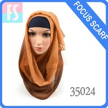 fashion new design ombre chiffon hijab