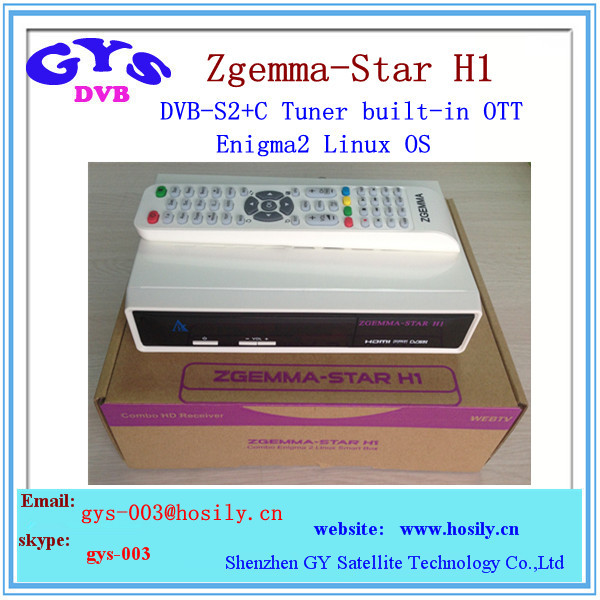 Enigma2 Zgemma Star H1 HD satellite tv receiver