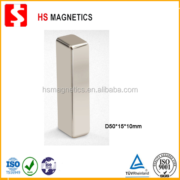 Factory supply D50*15*10mm super strong N35 block bar permanent neodymium magnet