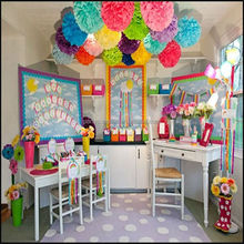 Tissue Paper Pom Poms Artificial Flowers Balls Festival Birthday Party Wedding Decorations Kids Party Supplies
