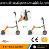 Newest aluminum t bar kick 2 in 1 scooter 3 wheel kick scooter