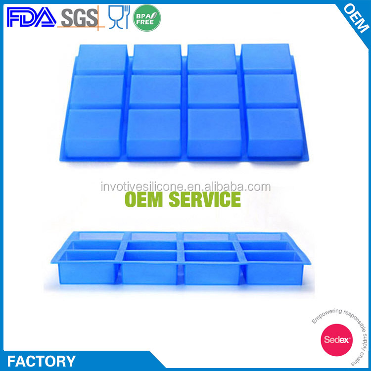 Durable Flexible Large Square Silicone Handmade Soap Mold
